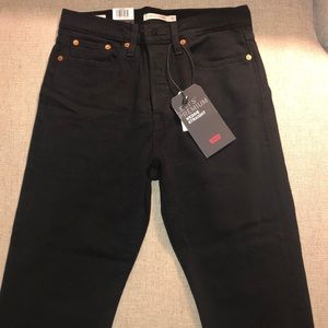 Levi's wedgie straight black jeans